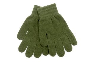 Guante de lana verde