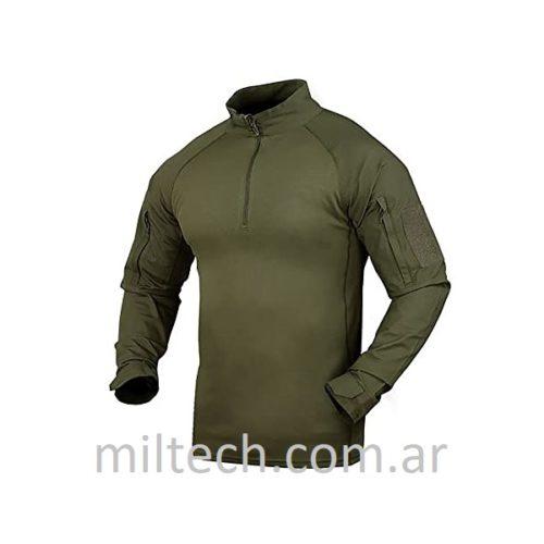 Remera CONDOR Combat Shirt, bajo chaleco color: verde, negro y coyote