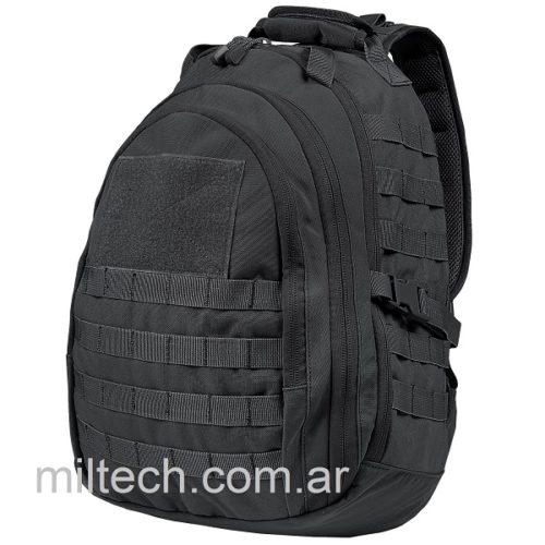 Mochila de combate mediana CONDOR modelo Sling, hombro ambidiestro, sistema MOLLE, compatible con sistemas de hidratación, correas de compresión laterales, color: negro, imp. EE.UU. Original